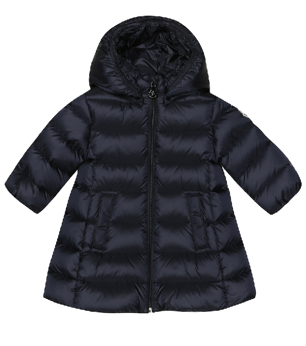 Moncler Baby Majeure Quilted Down Coat In Blue