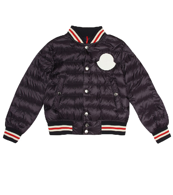 Moncler Kids' Corbiac Padded Down Jacket In Blue
