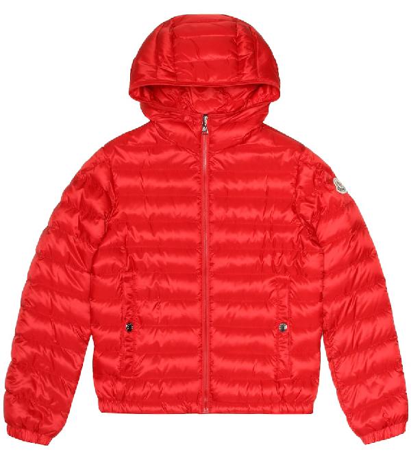Moncler Kids' New Morvan Down Coat In Red