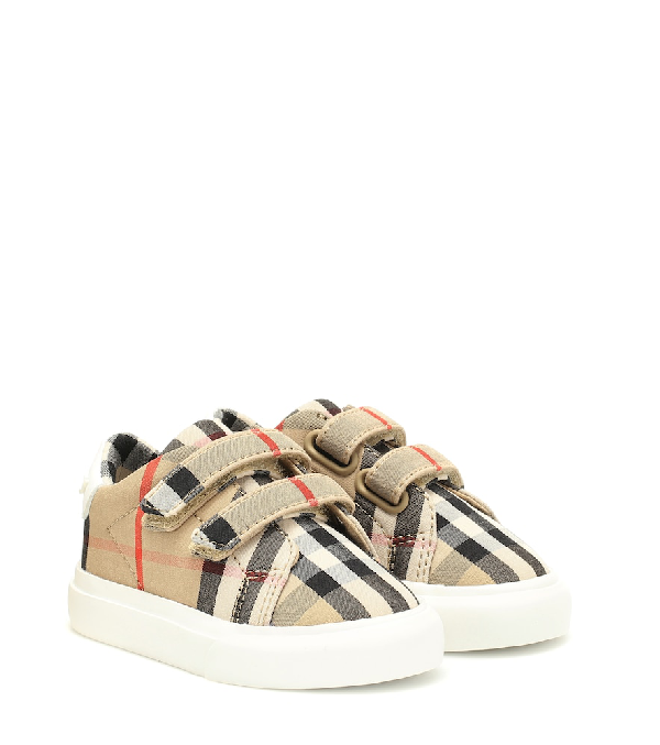 Burberry Babies' Unisex Markham Vintage Check Low-top Sneakers - Toddler, Little Kid In Beige