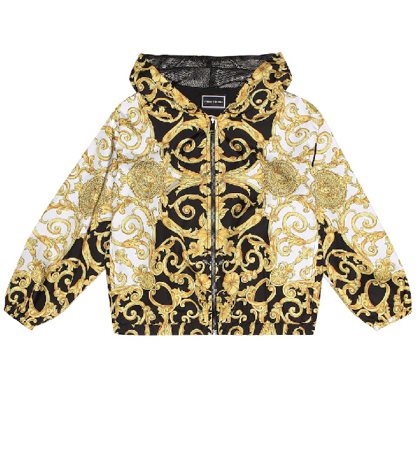 Versace Kids' Printed Jacket In Multicoloured