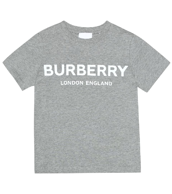 Burberry Unisex Robbie Logo Tee - Little Kid, Big Kid In Grey
