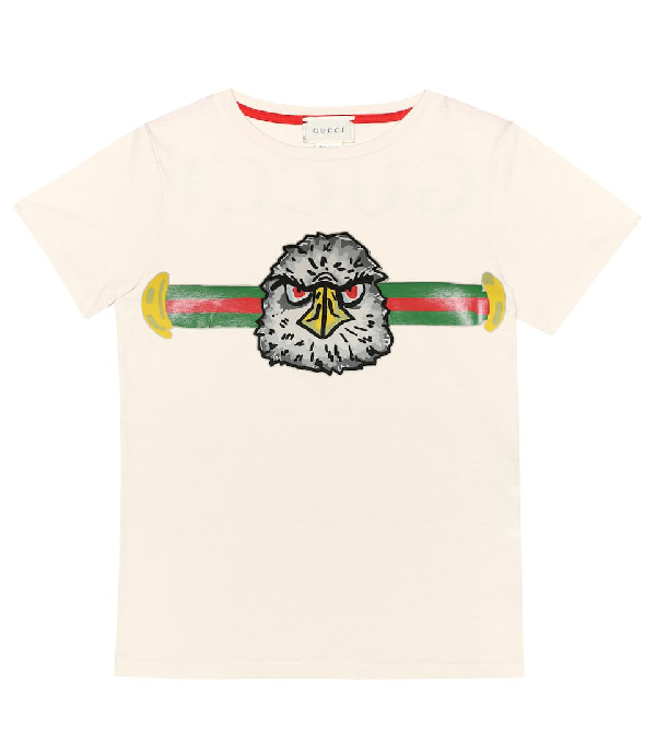 Gucci Kids' Printed Cotton-jersey T-shirt In White