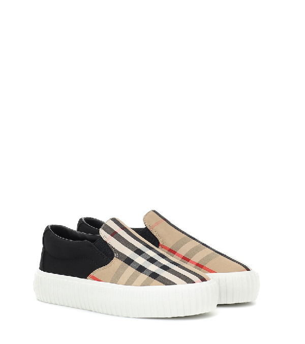 Burberry Unisex Erwin Slip-on Sneakers - Toddler, Little Kid In Beige