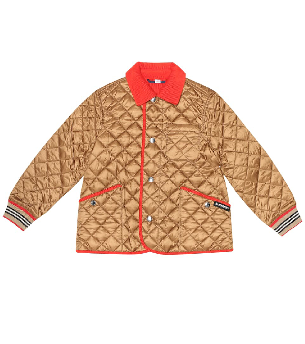 Burberry Boys' Culford Quilted Bomber Jacket - Little Kid, Big Kid In Metallic
