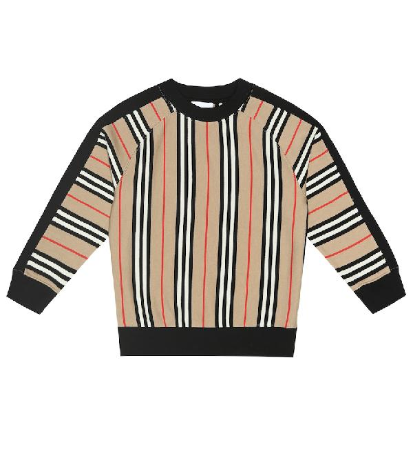 Burberry Boys' Lance Icon Stripe Sweatshirt - Little Kid, Big Kid In Beige