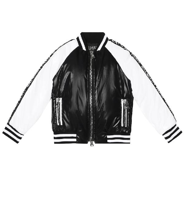 Balmain Kids' Bomber Jacket In Black