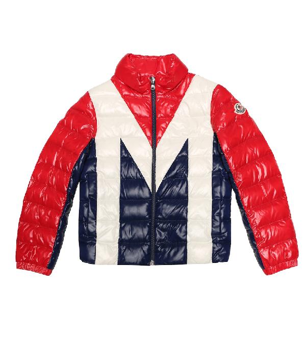 Moncler Kids' Rurutu Down Puffer Jacket In Red