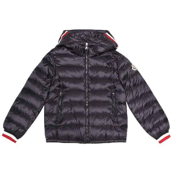 Moncler Kids' Giroux Hooded Down Puffer Jacket In Blue