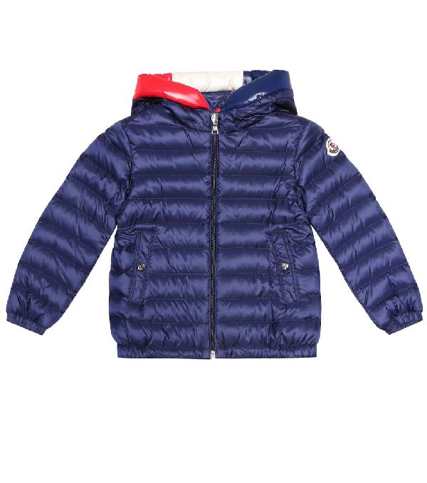 Moncler Kids' Sureau Hooded Down Puffer Jacket In Blue