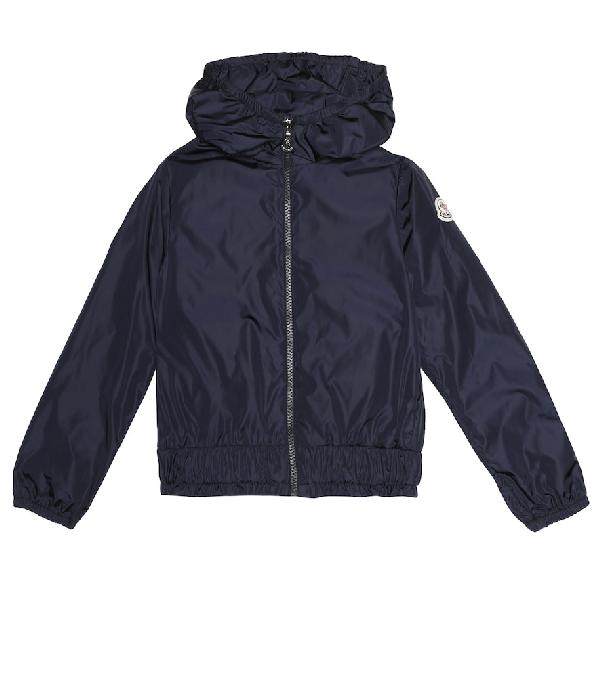 Moncler Kids' Erinette Hooded Jacket In Blue