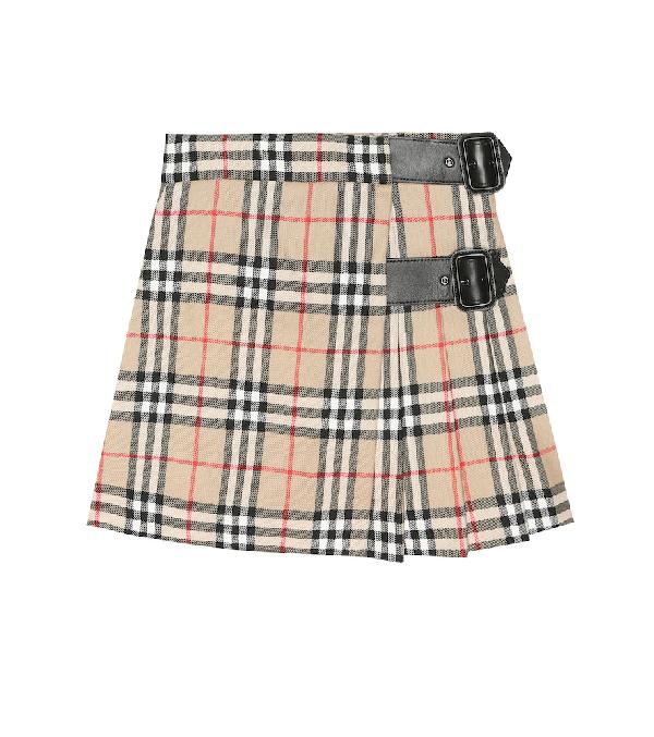 Burberry Girls' Luiza Vintage Check Wool Kilt - Little Kid, Big Kid In Beige
