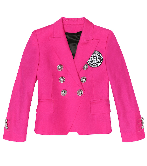 Balmain Kids' Exclusive To Mytheresa - Wool Blazer In Pink