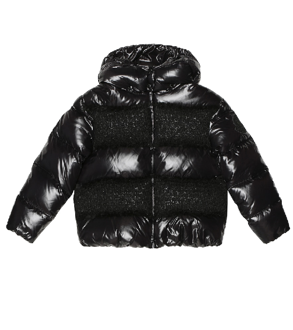 Moncler Kids' Elbe Down Jacket In Black