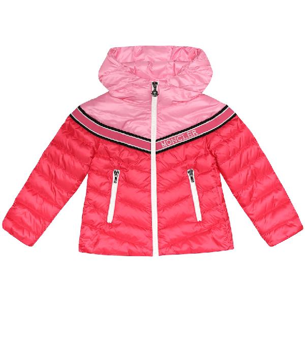 Moncler Kids' Eglantine Down Puffer Coat In Pink
