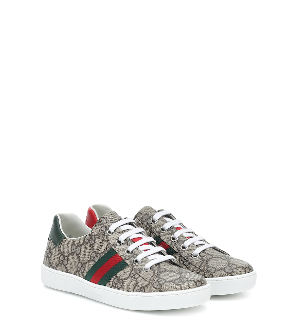 Gucci New Ace Gg Tennis Shoe, Toddler/kids In Neutrals