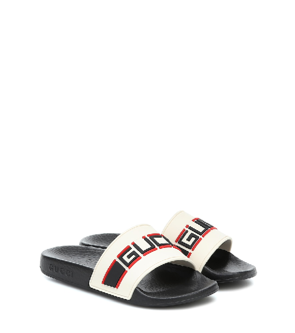 Gucci St. Nastro Sport Slide Sandals, Toddler/kids In Multicoloured