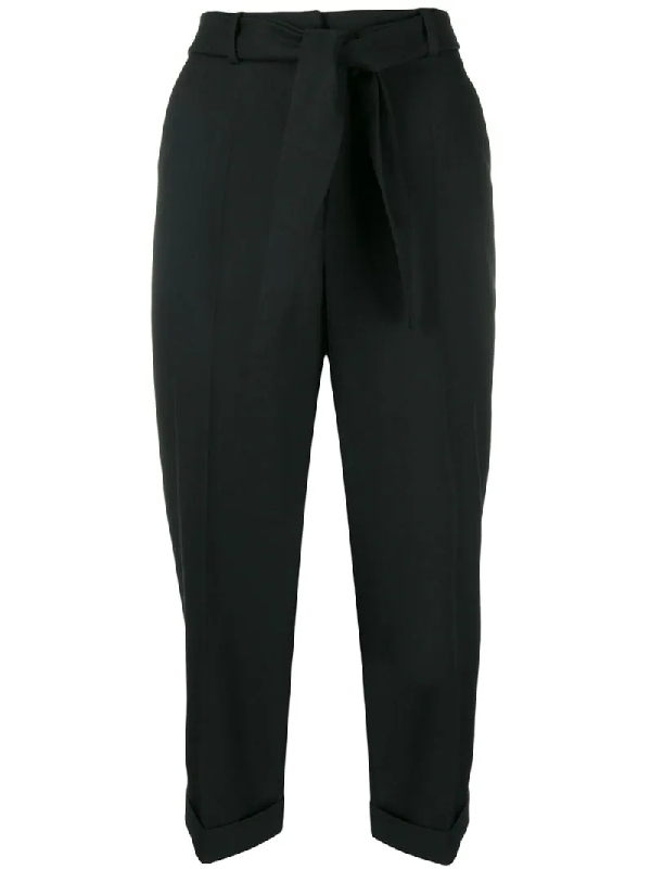 Christian Wijnants High-rise Cropped Trousers In Black
