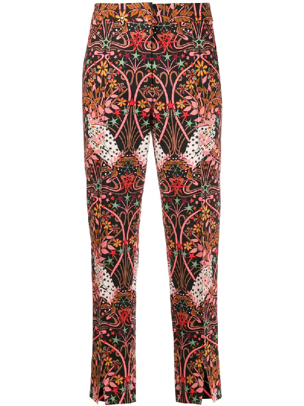 Liberty London Maisie Ianthe Valentine-print Trousers In Black