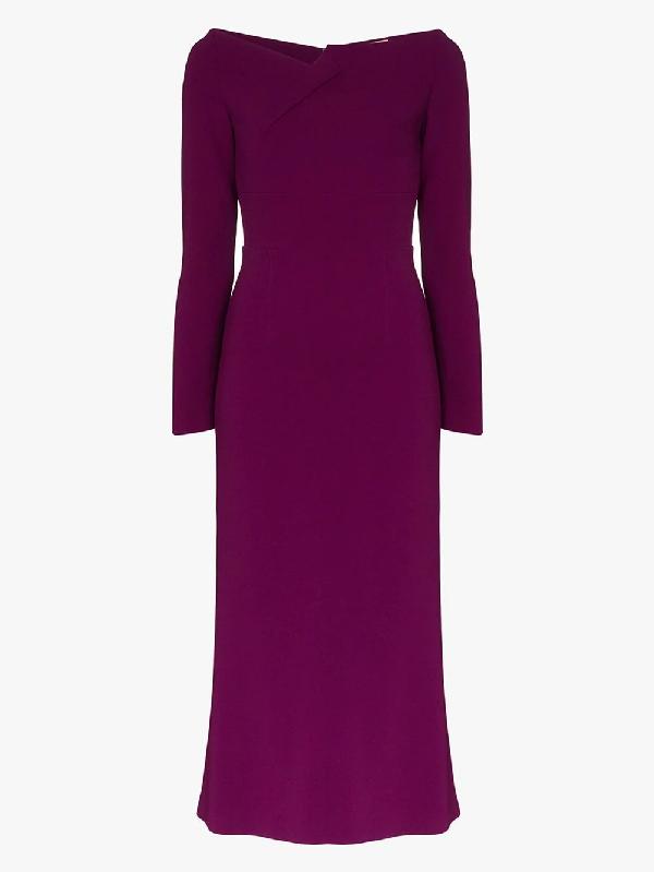 Roland Mouret Kleid Mit U-boot-ausschnitt In Purple