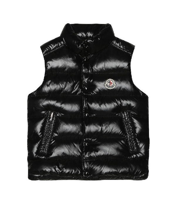 Moncler Kids' Tib Quilted Down Vest In Black
