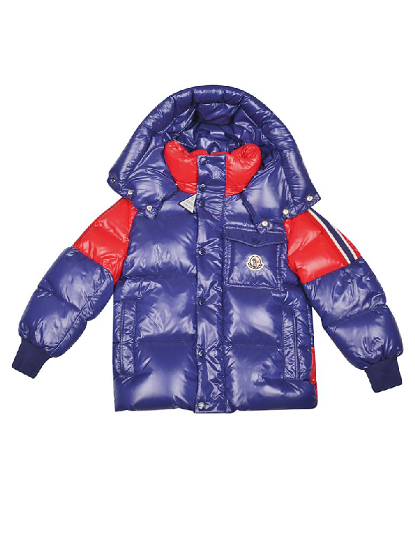 Moncler Kids' Sigean Down Jacket In Blue/red