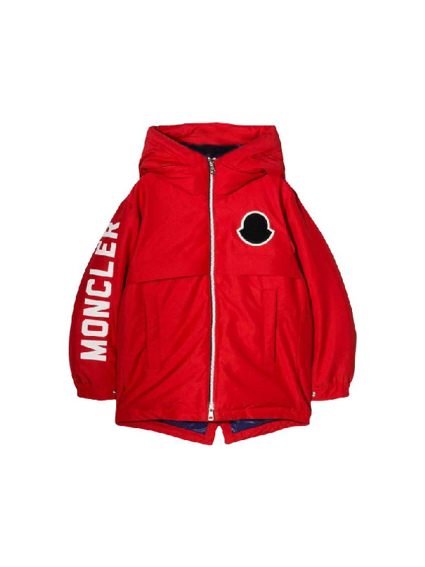 Moncler Kids' Red Airon Baby Jacket In Rosso
