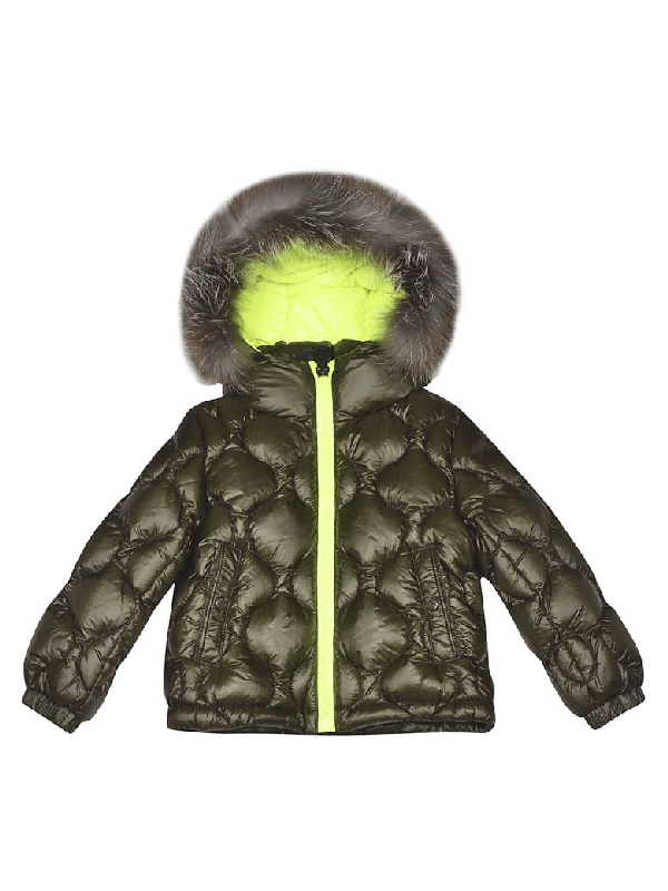 Moncler Kids' Oule Padded Jacket In Green