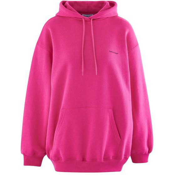 Balenciaga Pink Cotton Copyright Hoodie In 5630 Pink