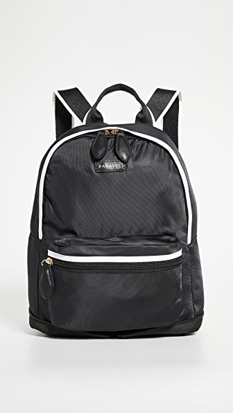 Paravel Mini Fold Up Backpack In Derby Black