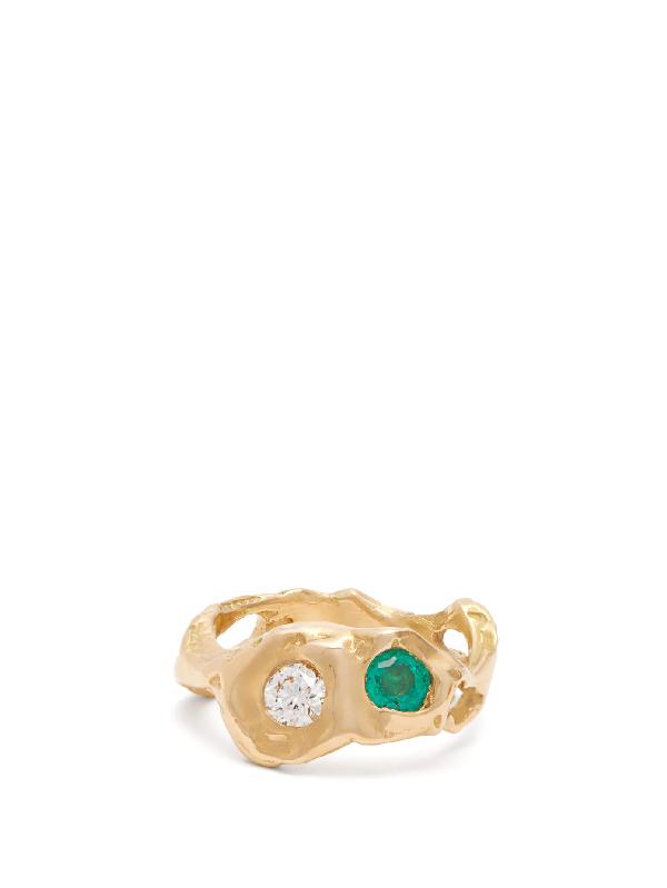 Nadia Shelbaya 143 Diamond, Sapphire & 18kt Gold Ring