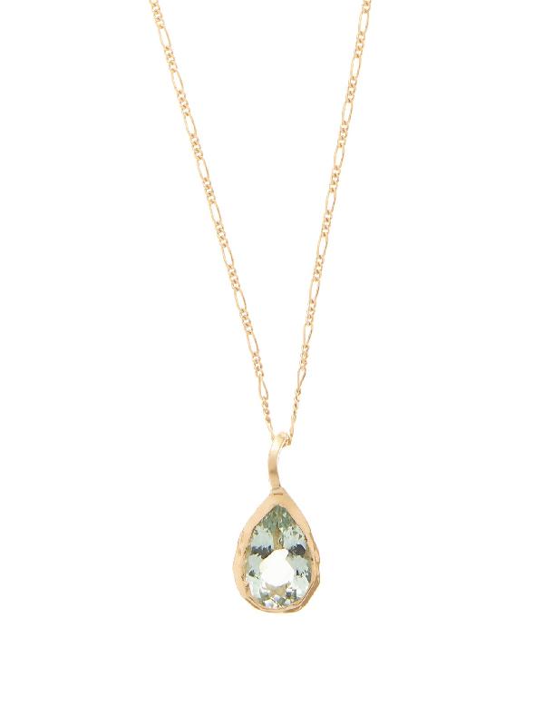 Nadia Shelbaya Tourmaline & Gold Necklace