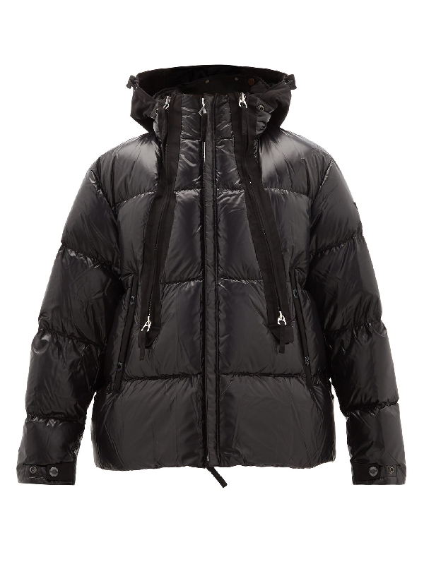 Burberry Desford Packaway Hood Puffer Jacket In Black