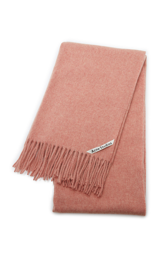 Acne Studios Canada New Wool Scarf In Rose Melange