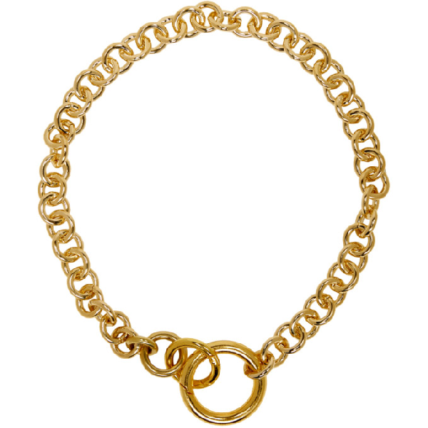 Laura Lombardi Gold Fede Necklace In Brass