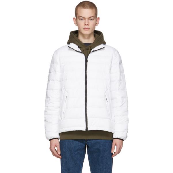 The Very Warm Off-white Liteloft Puffer Jacket In Off White