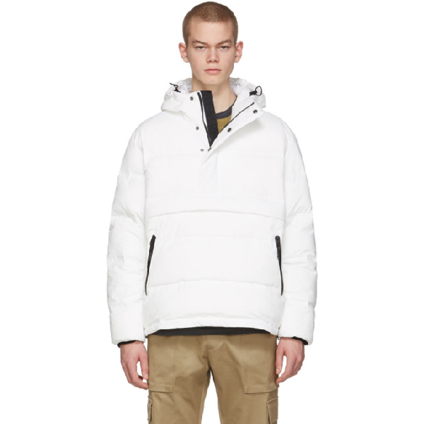The Very Warm Off-white Anorak Puffer Jacket In Off White