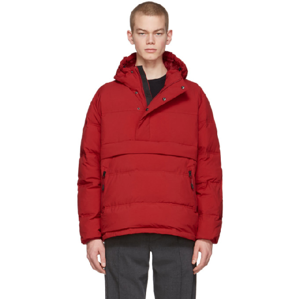 The Very Warm Red Anorak Puffer Jacket