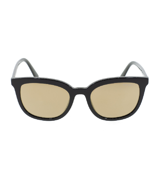 Prada Square Mirrored Lens Sunglasses In Blk/grn
