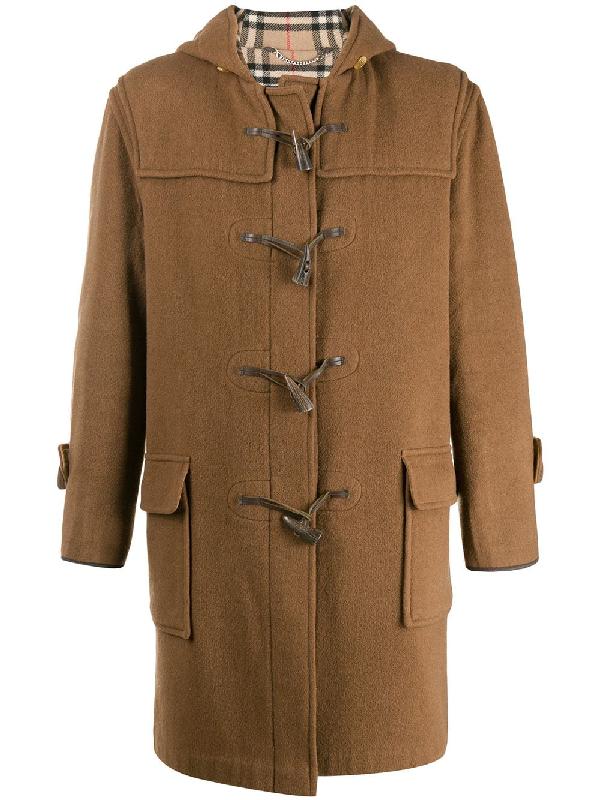 Burberry 1990s Duffle Coat In Brown