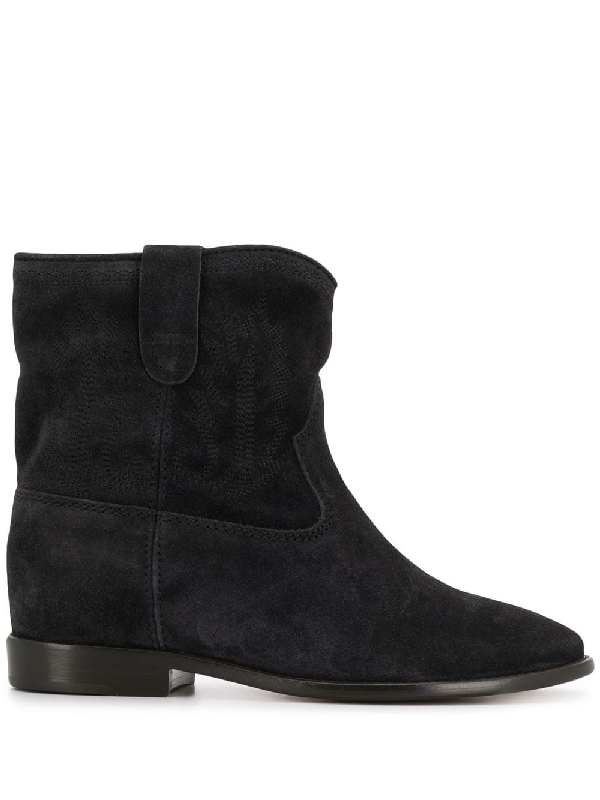 Isabel Marant Crisi Slouch Boots In Blue
