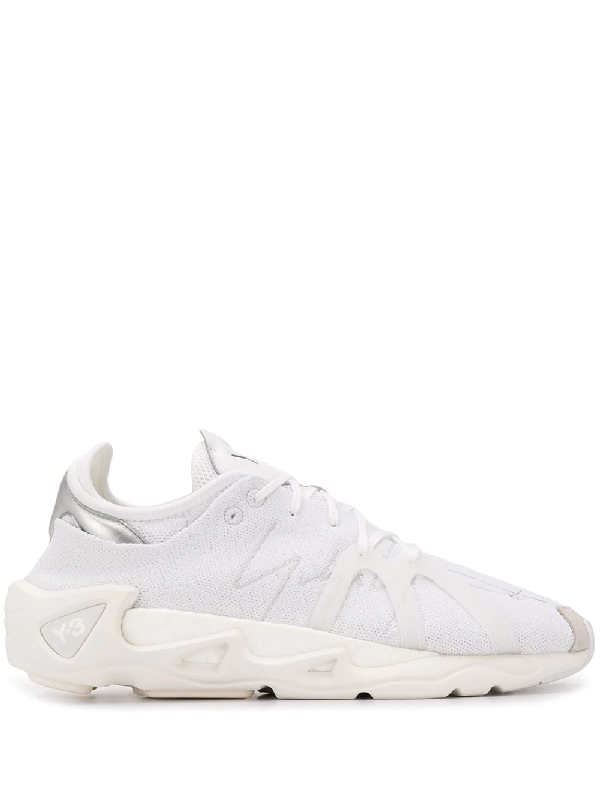 Y-3 Lace-up Low-top Sneakers In White