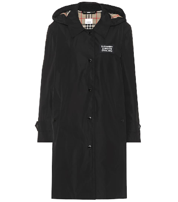 Burberry Detachable Hood Shape-memory Taffeta Car Coat In Black