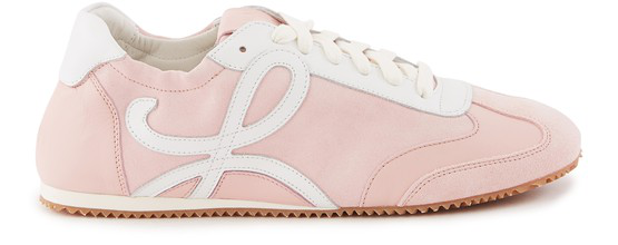 Loewe Ballet Elasticated-collar Canvas Trainers In 7200 L Pink