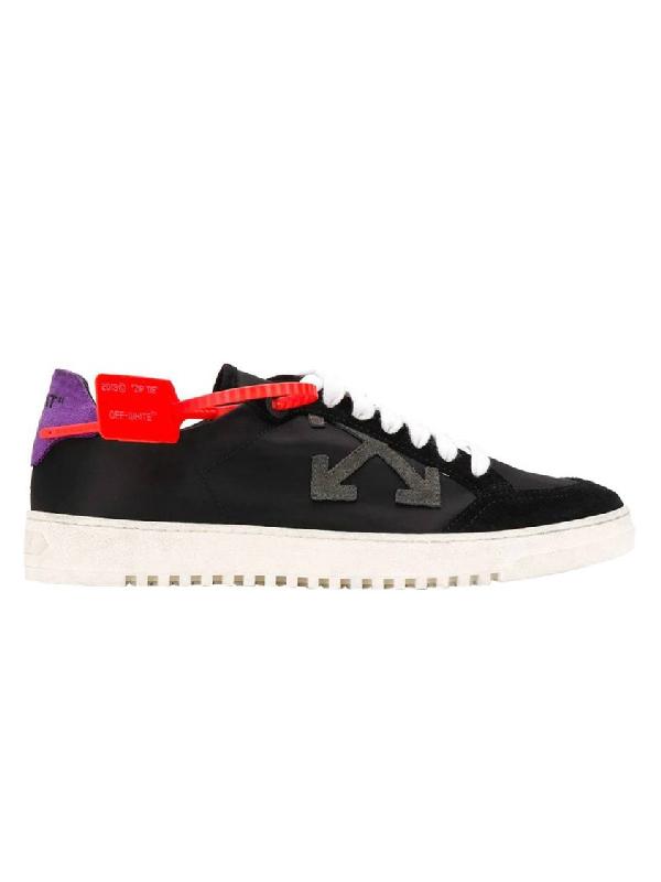 Off-white Arrows Logo Low-top Sneakers In Black
