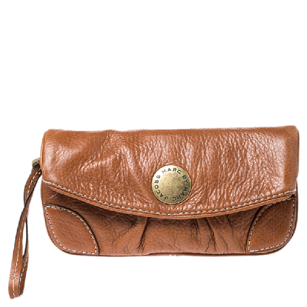 Marc By Marc Jacobs Brown Leather Wristlet