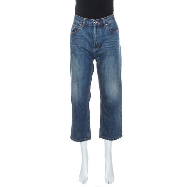 Marc By Marc Jacobs Blue Annie Boyfriend Crop Jeans M