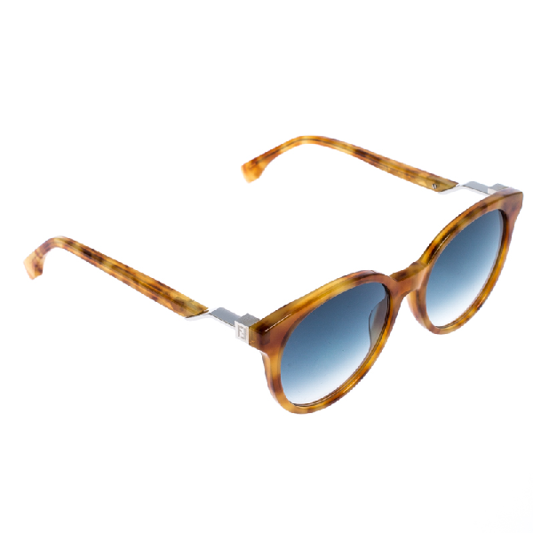 Fendi Light Brown Tortoise Ff 0231/s Round Sunglasses
