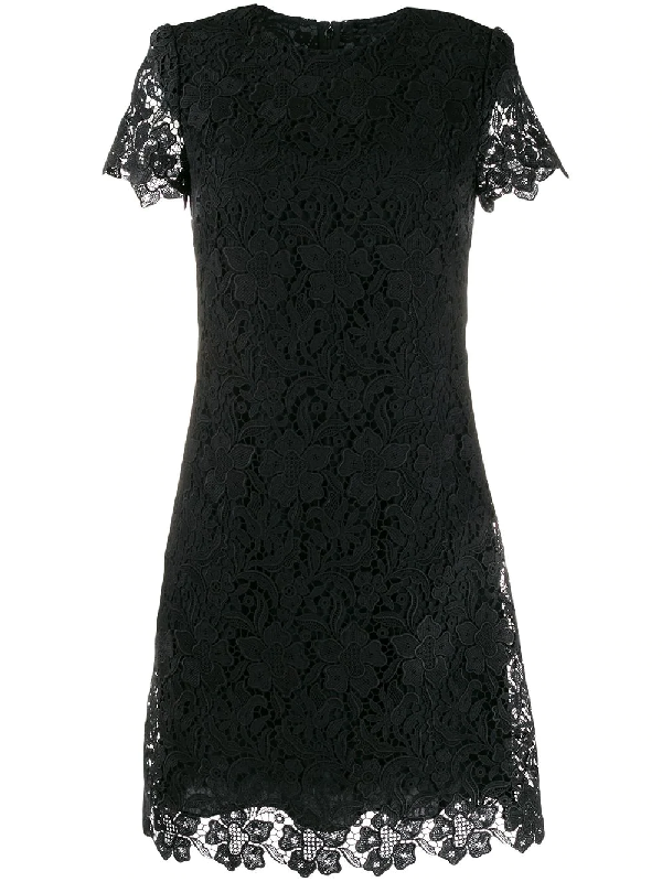 Givenchy Embroidered Floral Mini Dress In Black
