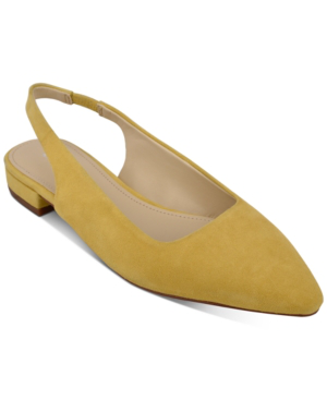Marc Fisher Fina Snip-toe Flats Women's Shoes In Sunny Yellow
